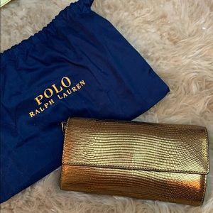 Brand new polo Ralph Lauren wallet gold crossbody